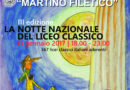 "Frosinone – Notte nazionale dei licei classici – open day ""Filetico"""
