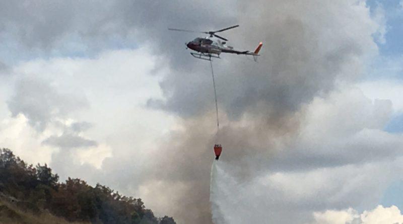 Pontecorvo – Incendio a monte Menola: caccia al piromane (Il Video)