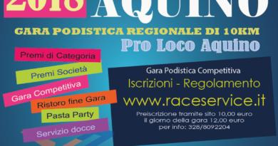 """Aquino/Podismo – Tutto pronto per la 13esima edizione del """"Trofeo dell'epifania"""""""