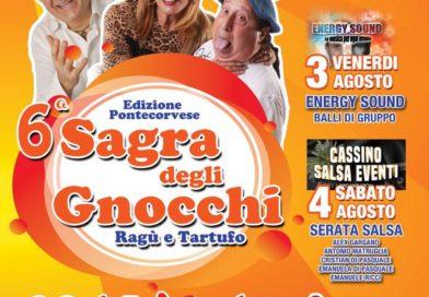 Pontecorvo – Giovedì 2 agosto al via la sesta edizione della Sagra degli gnocchi