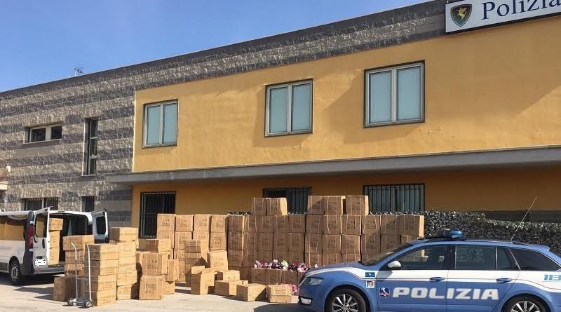 Frosinone – Carico di scarpe sequestrate dalla Polizia. Alimentavano la filiera del falso