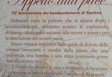 Pastena – Il messaggio di Pace nel 75esimo anniversario dei bombardamenti