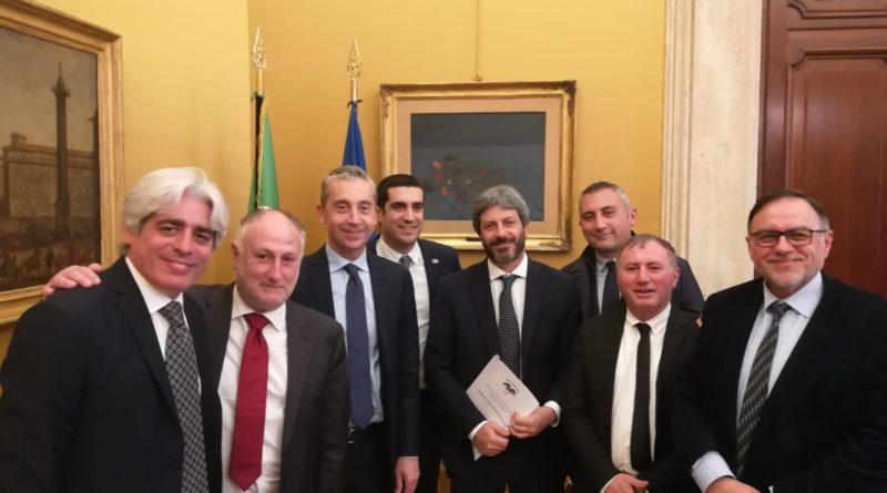Frosinone – Delegazione dell'Unione Province d'Italia con il Presidente della Camera dei Deputati, Roberto Fico