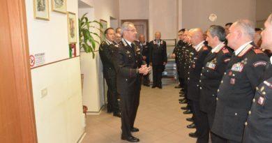 """Frosinone, il Generale di Divisione Andrea RISPOLI, Comandante della Legione Carabinieri """"Lazio"""", in visita al comando provinciale"""