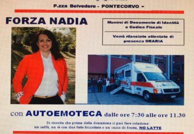 Pontecorvo – Doppia giornata per la donazione sangue. Una dedicata al vice sindaco Nadia Belli