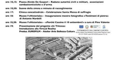 Cassino – Ricorda il primo bombardamento. Mostra al Museo Historiale di Antonio Nardelli
