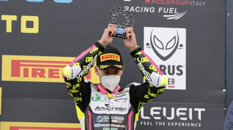 Motociclismo  – Armando Pontone sul podio al Mugello