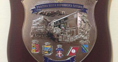 Procura di Cassino: presentato a Montecassino il Crest (distintivo) della Polizia Giudiziaria